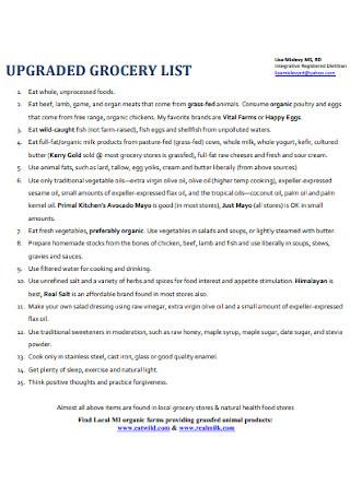 Upgrade Grovery List Template
