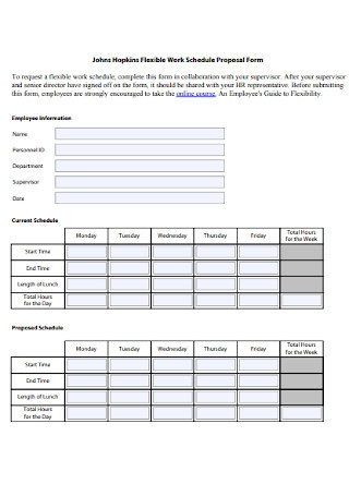 Work Schedule Proposal Form