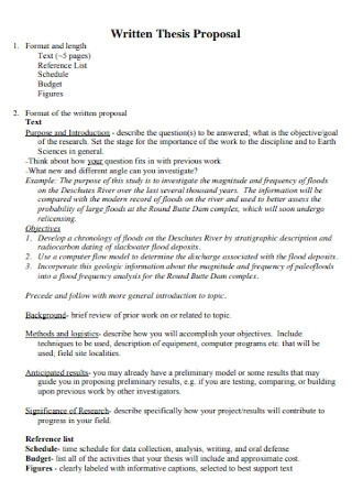 Written Thesis Proposal