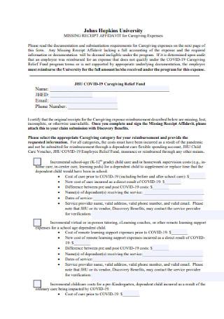Affidavit Service Receipt Template