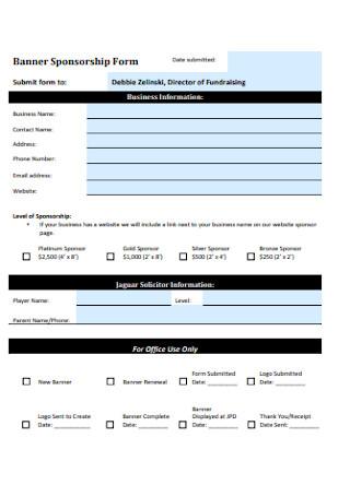 Banner Sponsorship Form