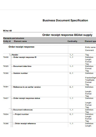Business Document Receipt