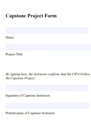 Capstone Project Form