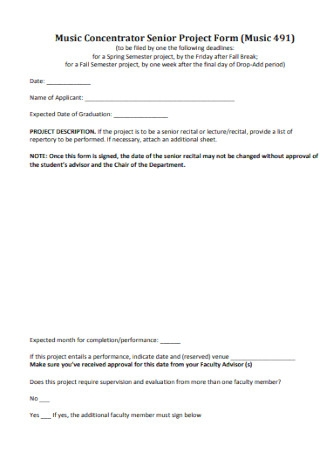 Concentrator Senior Project Form