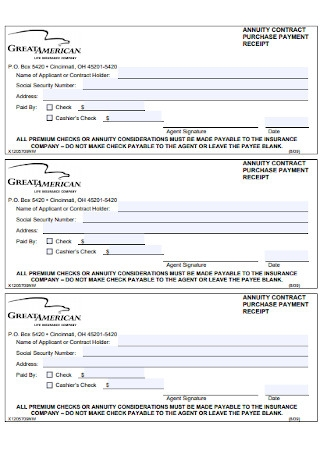Contract Payment Purchase Receipt