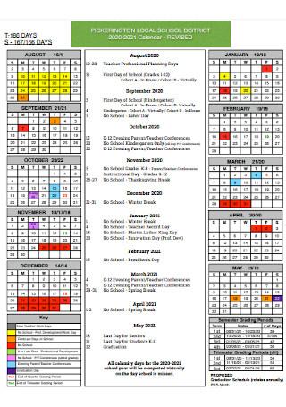 District School Academic Calendar