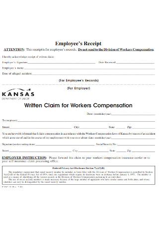 Employee Workers Receipt