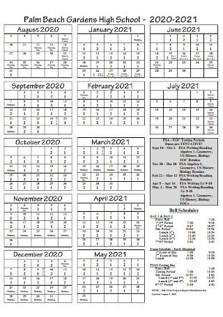 High School Garden Schedule