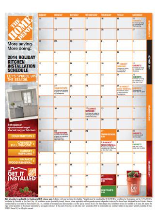 Holiday Kitchen Installation Schedule