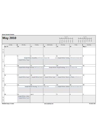 Kitchen Remodel Schedule