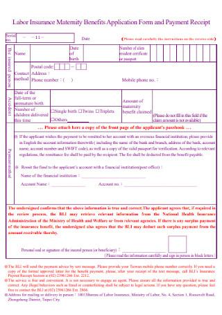 Labor Insurance Payment Receipt