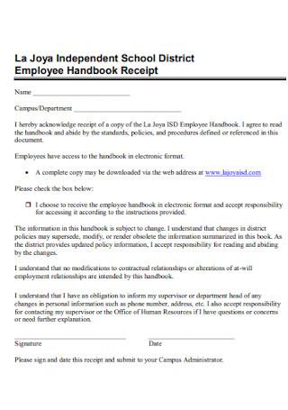 School Employee Receipt