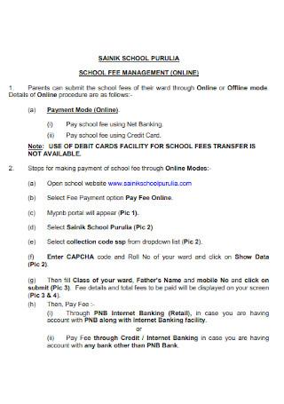 School Management Fee Receipt