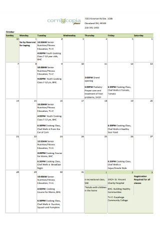 Simple Kitchen Schedule Template