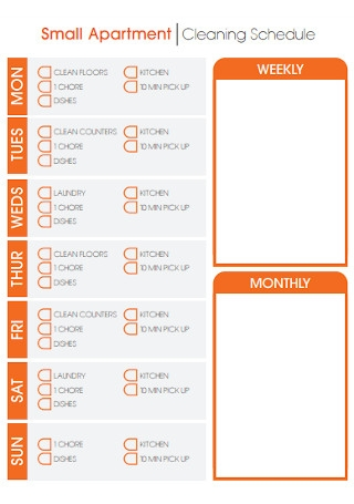 Small Apartment Cleaning Schedule