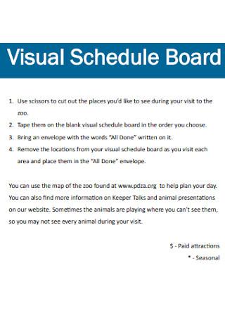 Visual Schedule Board Template
