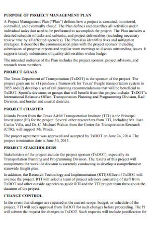 Basic Project Management Plan