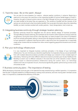 Business Continuity Lesson Plan
