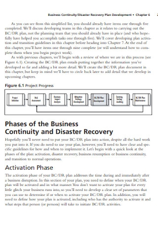 Business Continuity and Disaster Plan