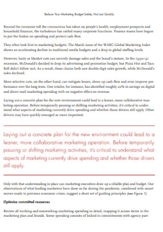 Company Marketing Budget Template