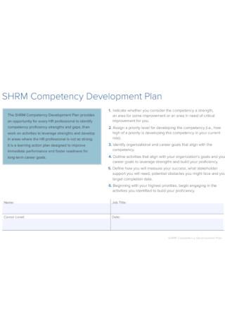 Competency Development Plan