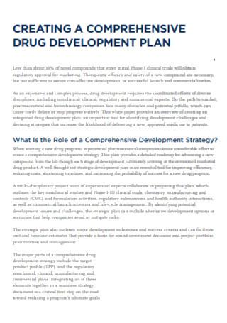 Drug Development Plan