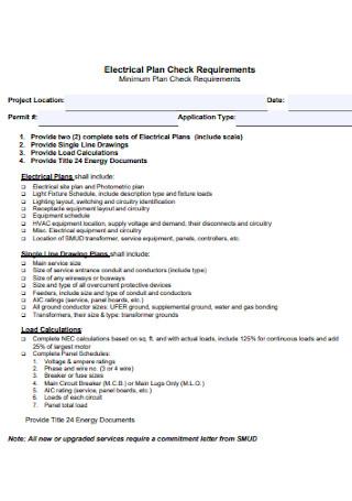 Electrical Check Plan