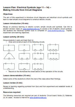 Electrical Lesson Plan
