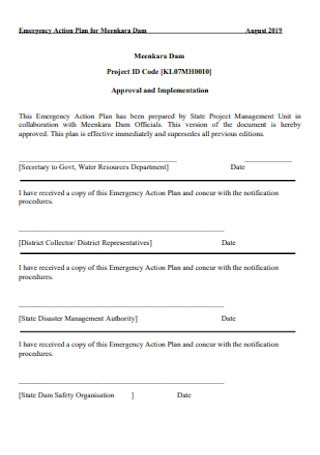 Emergency Action Plan for Dam