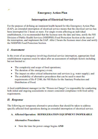 Emergency Action Plan for Food