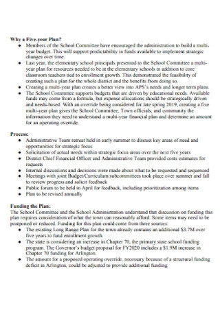 Fice Year Budget Plan Template