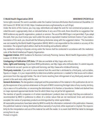 Health Organization Business Continuity Plan