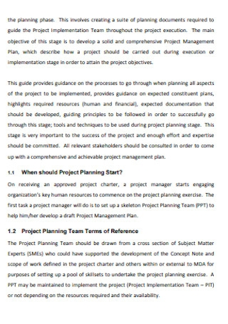 IT Project Management Plan Example