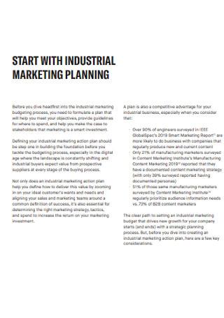 Industrial Marketing Budget