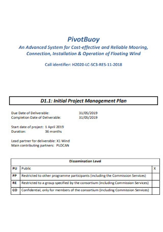 Initial Project Management Plan
