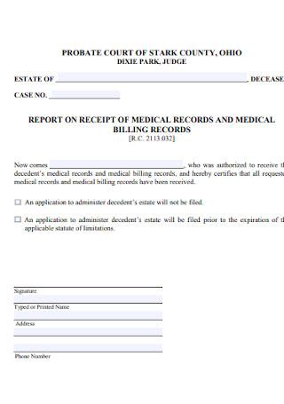 Medical Billing Receipt Template