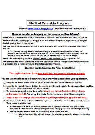 Medical Program Receipt