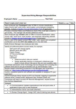 New Personnel Hire Checklist
