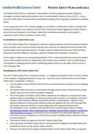 Patient Health Safwety Plan