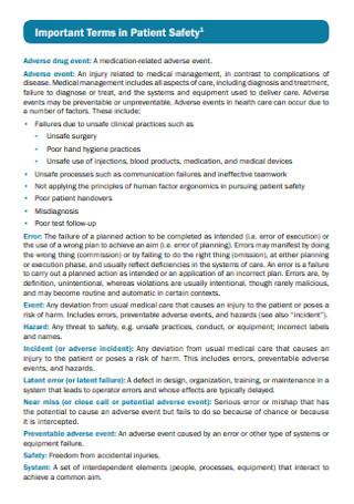 Patient Safety Strategic Plan