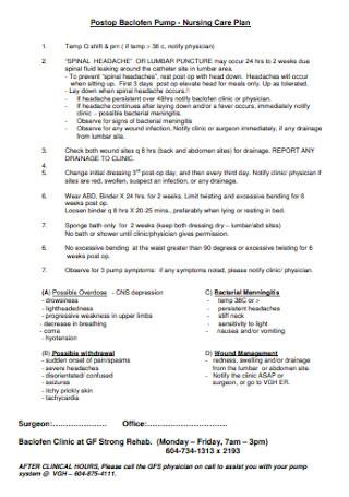 Printable Nursing Care Plan