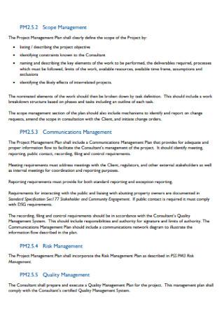 Project Communication Management Plan