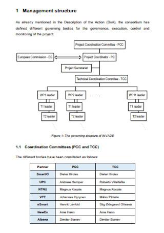 Project Management Structure Plan