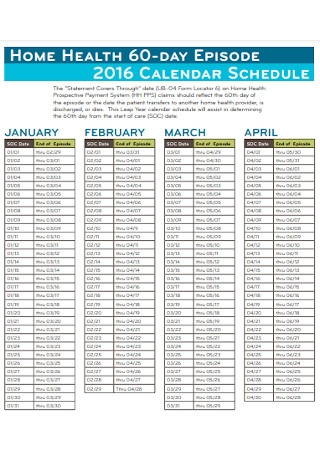 Sample 60 Day Health Plan