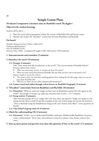 Sample Lesson Plans Template