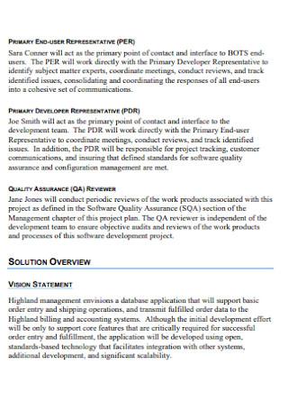 Sample Software Project Management Plan