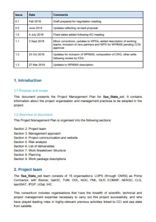 Simple Project Management Plan