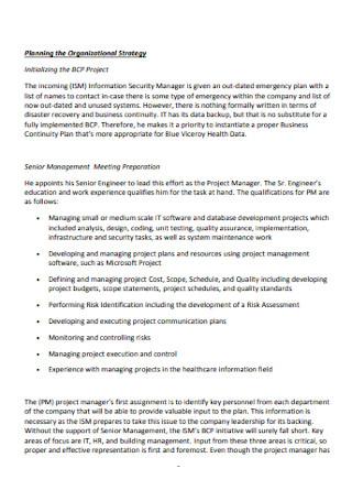 Small Organization Business Continuity Plan