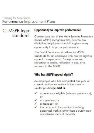 Training for Supervisors Performance Improvement Plans