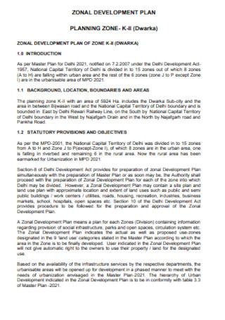 Zonal Development Plan